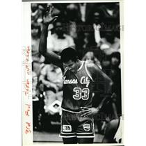 1981 Press Photo Kansas City Steve Johnson plays in old gym Oregon State Colism.