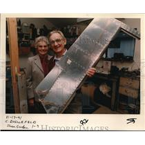 1991 Press Photo Luisa and Gerhard Doellefeld showing half-finish elevator