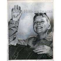 1959 Press Photo Olle Bornebusch completed a trip around the world in 30 days.