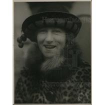 1925 Press Photo Mrs. H. P. Hansen, wife of Movie Magnate of Honolulu