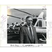 1988 Press Photo Robert D. Fox vice president of marketing Evergreen Helicopters