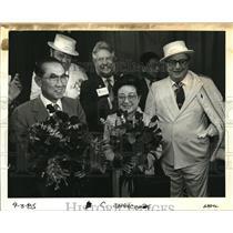 1985 Press Photo Sapporo Mayor Takeshi Itagakie, Mitsuko Portland International