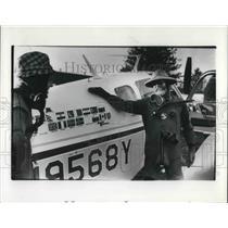 1977 Press Photo Warren Rogers and Paul Christensen Pilot - ora09052