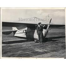 1935 Press Photo Cecil Hamilton Pilot - ora33119