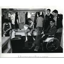 1973 Press Photo Astoria Coach Al Jacobson Fishermen basketball team - ora39119