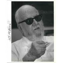 1988 Press Photo Reginald Bowles remembers the Wright Brothers as he earns wings