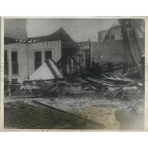 1928 Press Photo Residence Badly Damage From Hurricane in Lake Worth