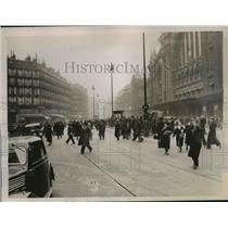 1917 Press Photo Paris France, trade union leaders strike for shooting rioters