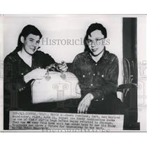 1925 Press Photo James Overland and Wayland Kanwischer