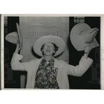 1936 Press Photo Western Clare Ausherman on G.O.P. National Convention
