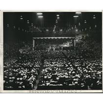 1931 Press Photo American Legion Members Gather In Detroit To Hear Plea On Bonus