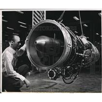 1951 Press Photo General Electric turbojet engine in J-47 series - nex55829