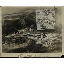 1930 Press Photo of an aerial view of a newly built prison on the Isle of Pines