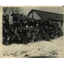 1920 Press Photo Girl Scouts at Winter sports jamboree at Waltham Mass