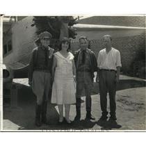 1931 Press Photo Lt Al Calzadiaz, Fifie Maluuf, Col G Leon, H Crawford