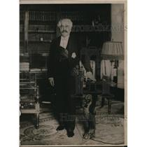 1920 Press Photo President Millerand of France at Elysee Palace