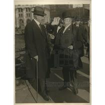1923 Press Photo Ex New York Governor Nathan L. Miller, Abraham L. Erlanger
