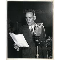 """1941 Press Photo Henry Hull """"Honest Abe"""""""