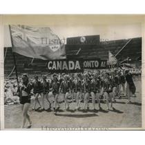 1939 Press Photo London Womens League of Health & Beauty, Canada delegates