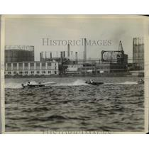 1929 Press Photo Motorboats stars the class six race on Charles river