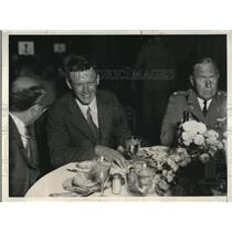 1931 Press Photo Col Charles Lindbergh at lunch at Ritz Hotel