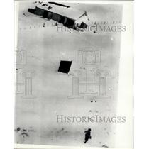 1955 Press Photo Food drops by Helicopter for snowed in Scottish people