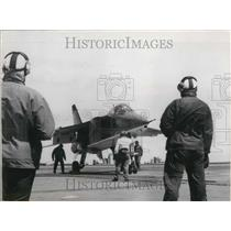 1970 Press Photo Jaguar M 05 Test Flights Take Off from Clemenceau
