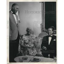 1964 Press Photo Mrs.James Byrnes, Robert Pamplin, Owen R. Chetham Garden Supper