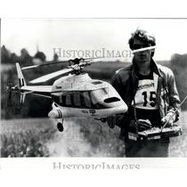 1981 Press Photo Model Helicopter, Swiss Championships