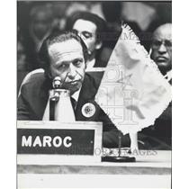1929 Press Photo PM of Morrocco,Ahmed Osman