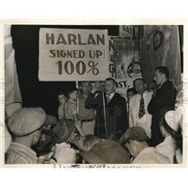 1938 Press Photo Willia Turnblazer, District 19 President, United Mine Workers