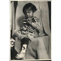 1925 Press Photo Great-Grandson of Chief Many Tall Feathers of Glacier Ntnl Park