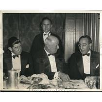 1934 Press Photo Mickey Cochrane Tigers mgr, Lou Little Columbia coach
