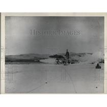 1948 Press Photo US Rocket Plane test blast
