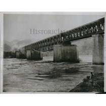 1929 Press Photo Indus river floodwaters at Punjab in Kashmir India