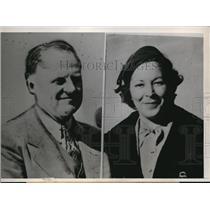 1938 Press Photo E.H. Veblin,pilot,Douglas Aircraft Corp. and Mildred Macek