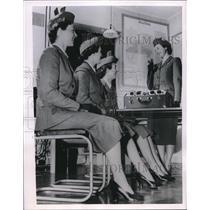 1954 Press Photo London Carol Herdman,Pat Hill, Bea Toll & Ann Whiteway