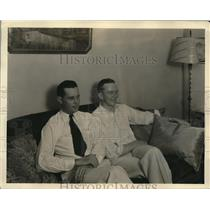 1929 Press Photo of Forrest O'Brine and Dale Jackson.