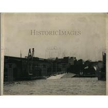 1918 Press Photo American liner ship St Paul sinks at dock in NY