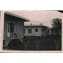 1921 Press Photo Rear view of cottages in Leper colony at Baton Rouge, L.A.