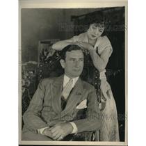 1930 Press Photo Actress Renee Aderee and L.A. merchant Sherman Gill marry