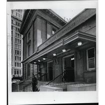 1973 Press Photo Canopy covers west entrance of Pioneer Station of US Postal Ofc