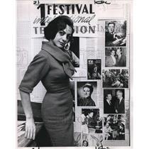 1961 Press Photo Trini Camara, Peru's Gift to Portland TV - ora02674