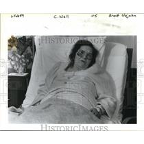 1989 Press Photo Betty Culp, a woman who fell and got trapped into an old well