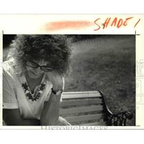 1991 Press Photo Janet Polivka, mother of the Shadyside flood victim Kerri