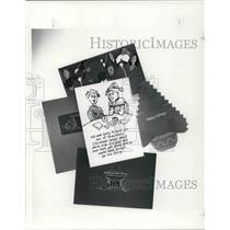 1988 Press Photo Christmas card copies