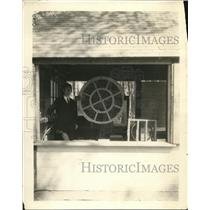 1924 Press Photo Induction Loudspeaker, Schenectady Campground, New York