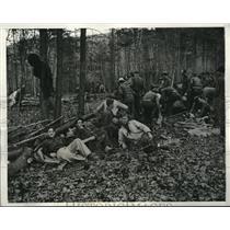 1933 Press Photo Reforestation Camp Members, George Washington National Park
