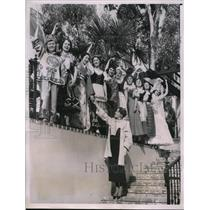 1935 Press Photo Calif Pacific Expo at San Diego Fulkerson,Chiu,Maynard