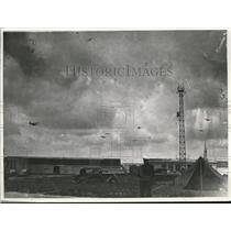 1935 Press Photo Le Bourget airfield & planes in France